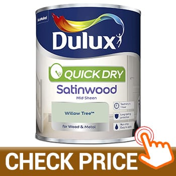 Dulux Quick Dry Satinwood Paint Willow Tree